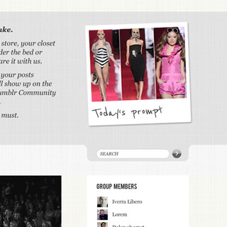 Layout des Fashion-Week-Blogs